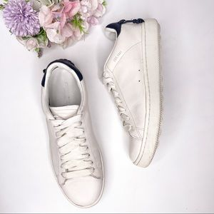 Coach C101 Low Top White Leather Sneakers